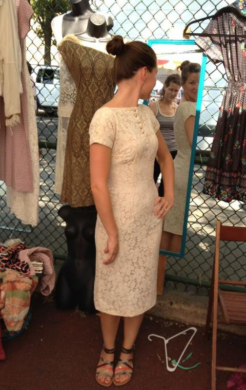 brooklyn flea lace 1940's vintage dress