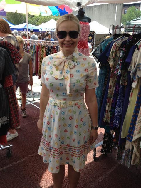 brooklyn flea cool cotton vintage 1960's dress