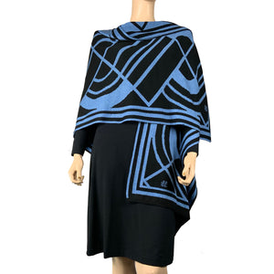 Deco Cape Black & Lt. Blue