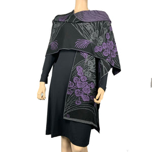 Moonscape Cape Black, Grey, Purple