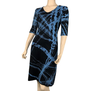 Mirage Amanda Dress Black and Mid Blue