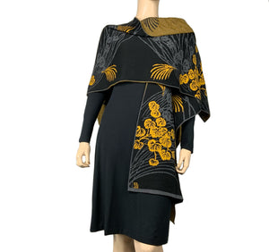 Moonscape Cape Black, Grey, Gold