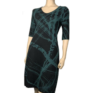 Mirage Amanda Dress Hunter Green and Black