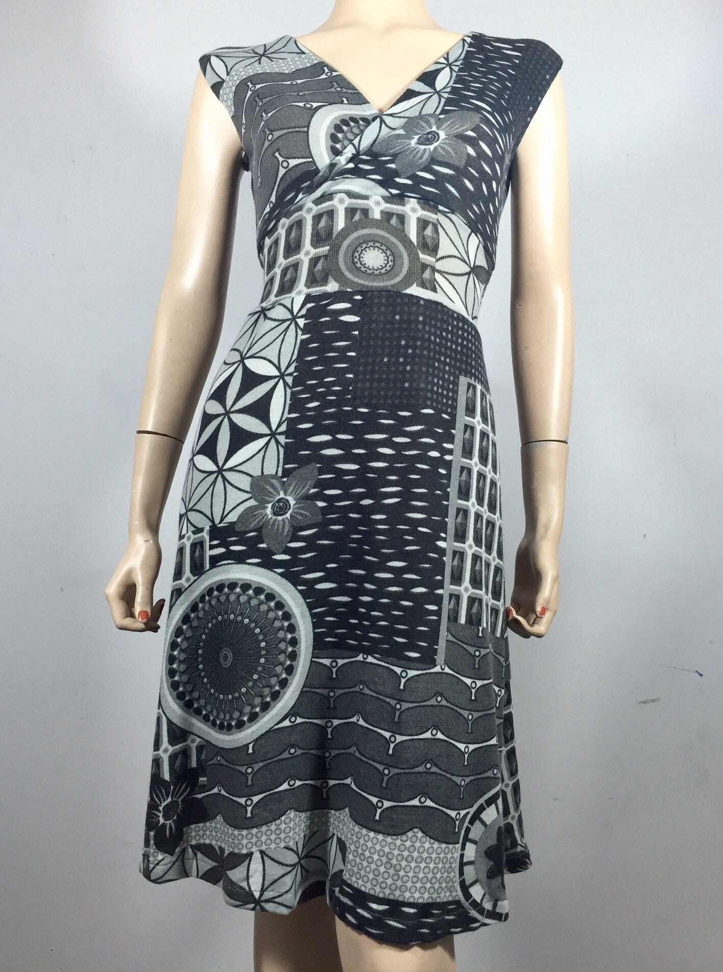 Grey Geo Cari Dress