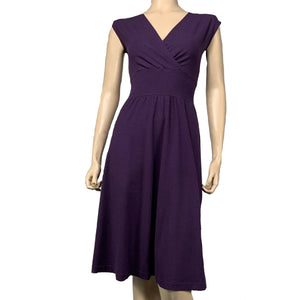 Solid Purple Cotton Bamboo Cari Dress