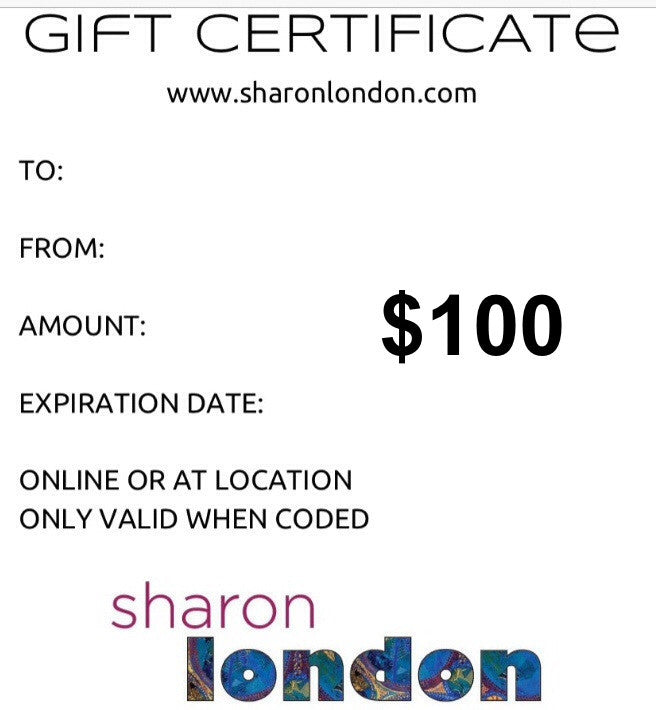 SHARON LONDON GIFT CERTIFICATE $200