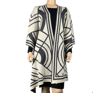 Deco Cape Charcoal and Cream