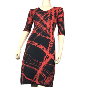 Mirage Amanda Dress Black and Red