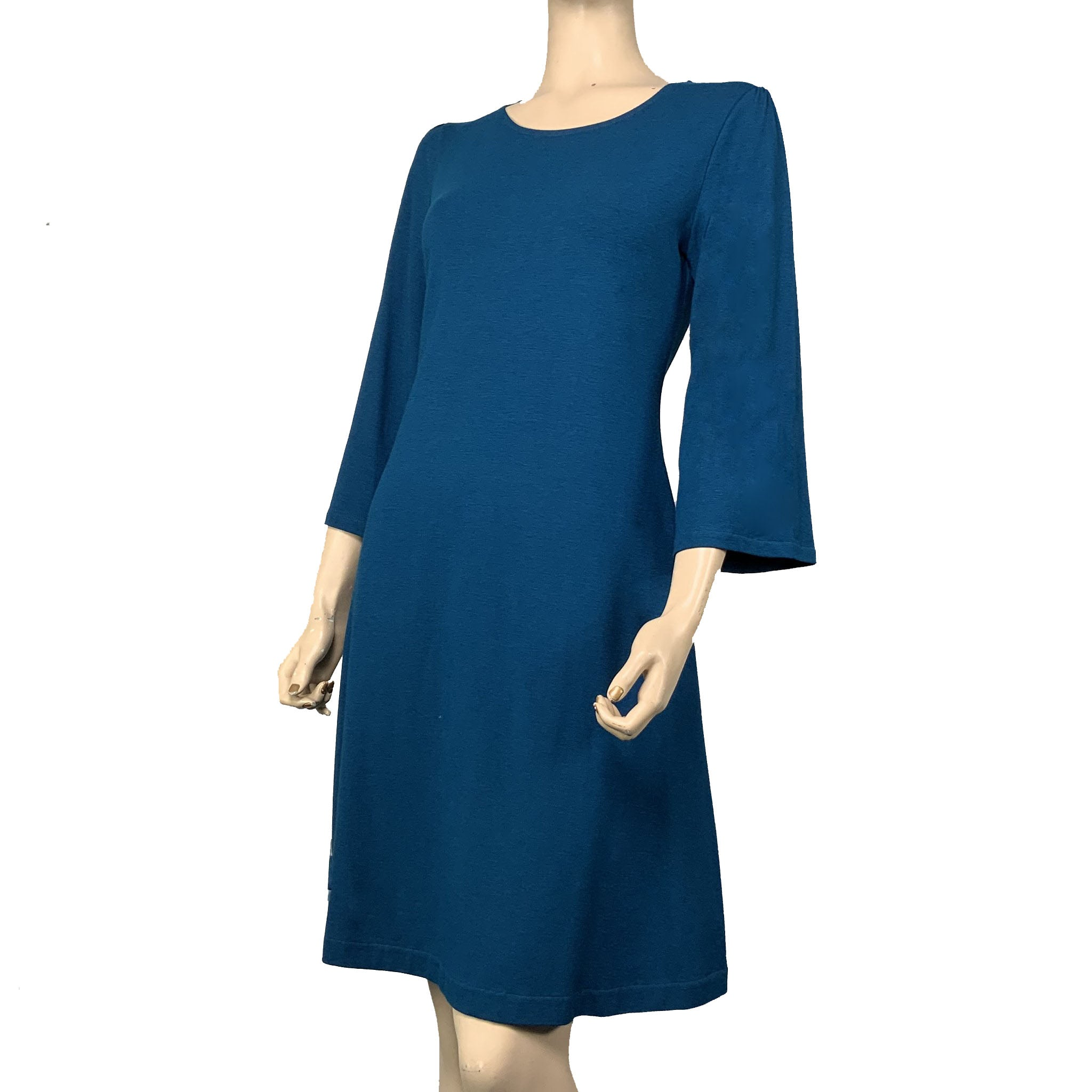 Solid Ruby Dress, Lucia fit, Teal, Flared Sleeve