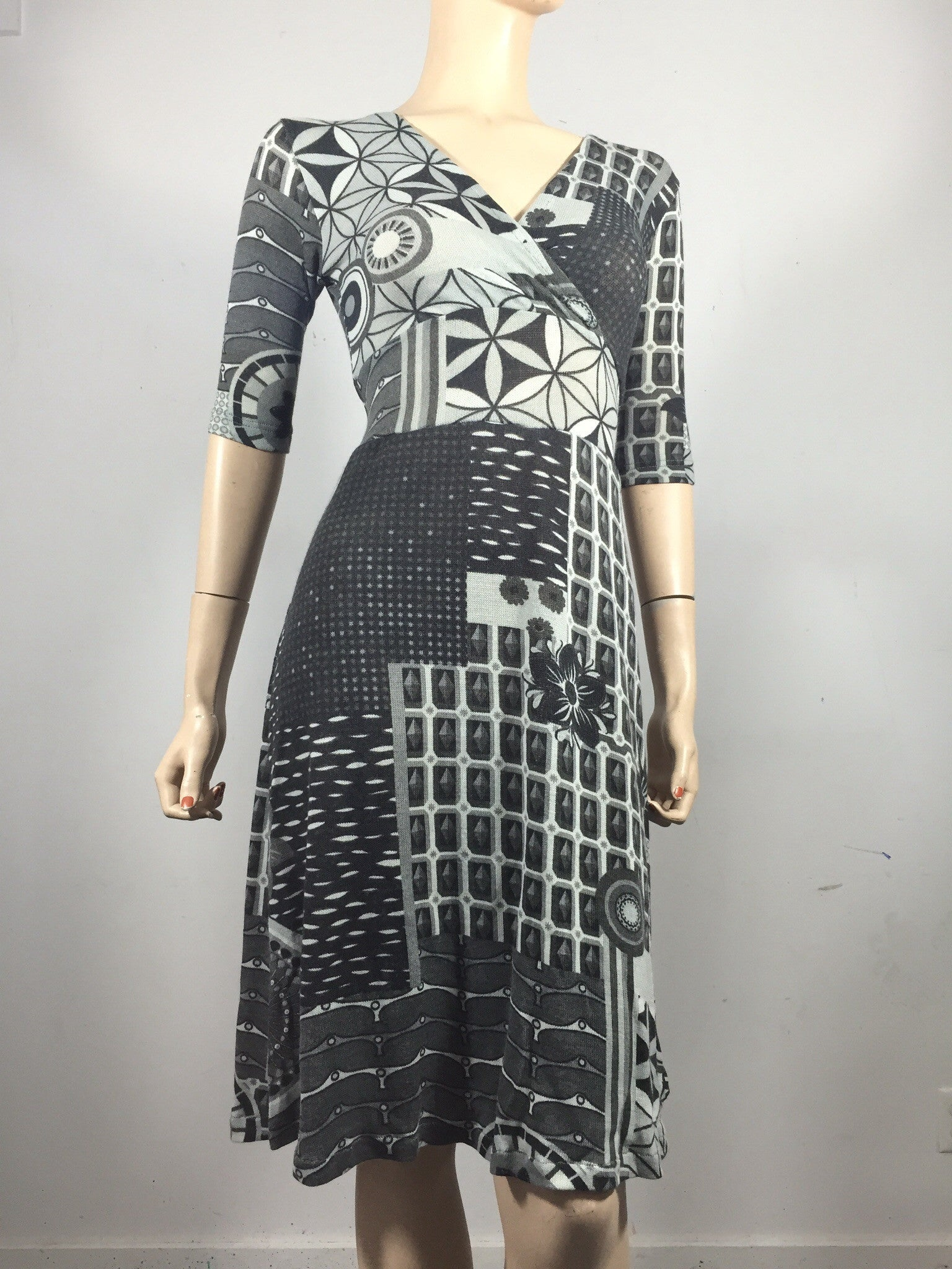 Grey Geo Betsy Dress