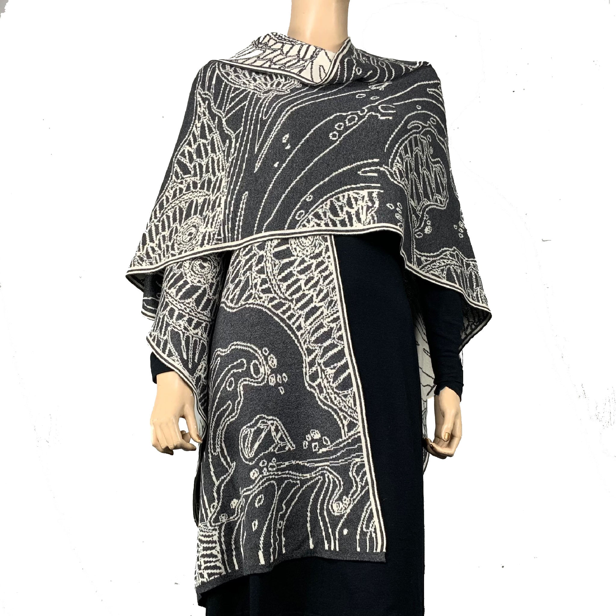Ocean Cape Charcoal and Cream