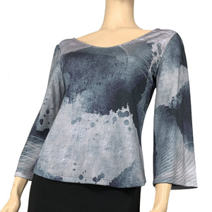 Luna Ava Top Flared Sleeve