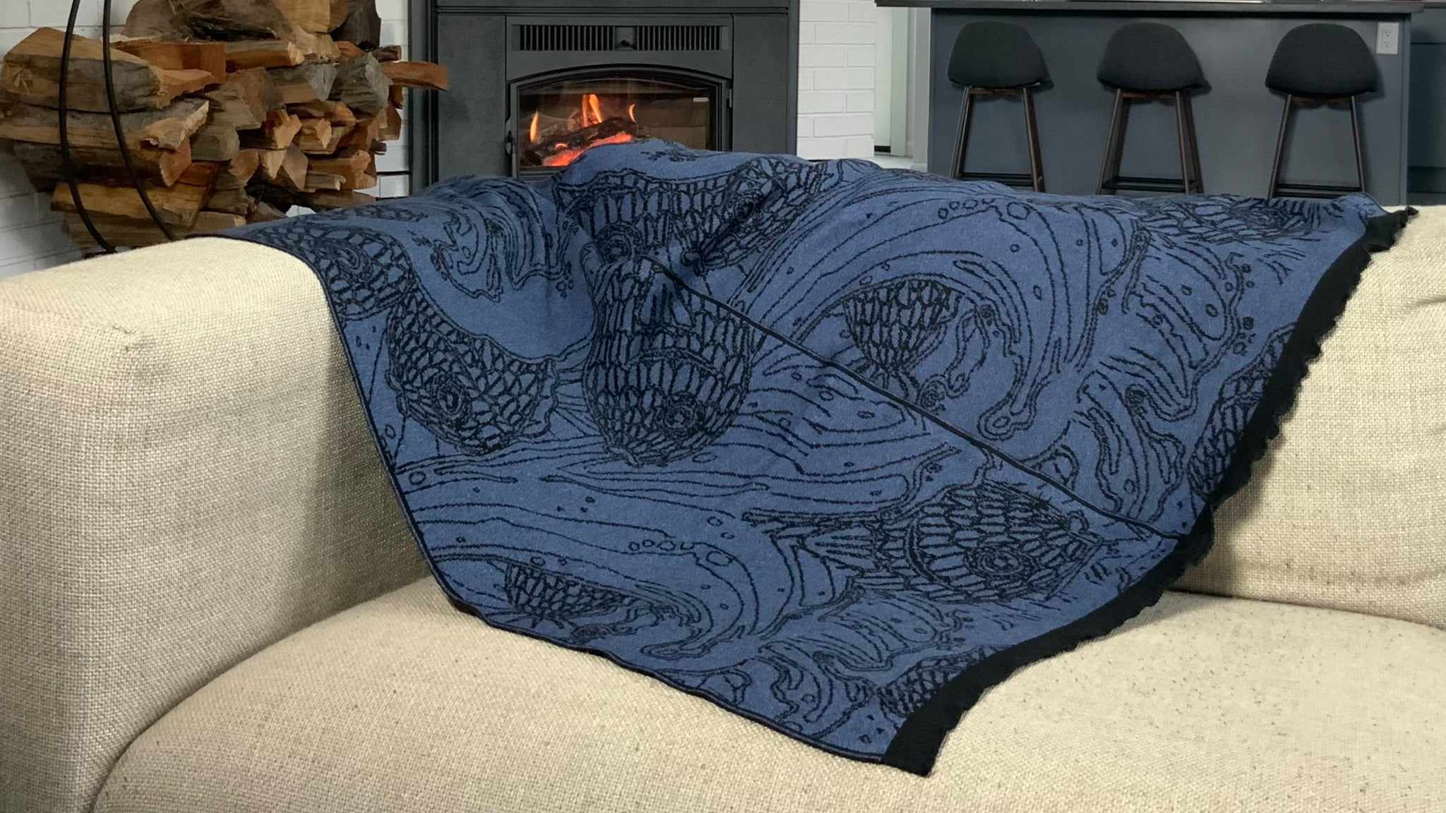 Ocean Denim Blanket