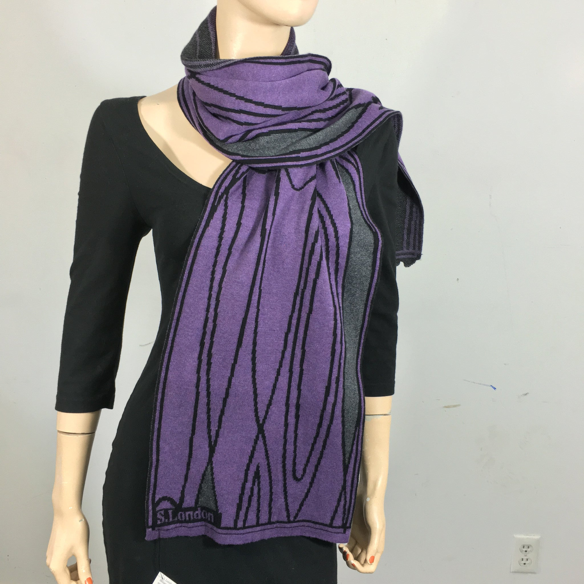 Mid-Century Purple, Dark Grey, Black
