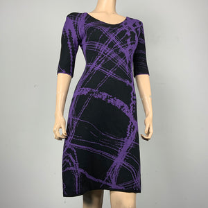 Mirage Amanda Dress Black and Purple