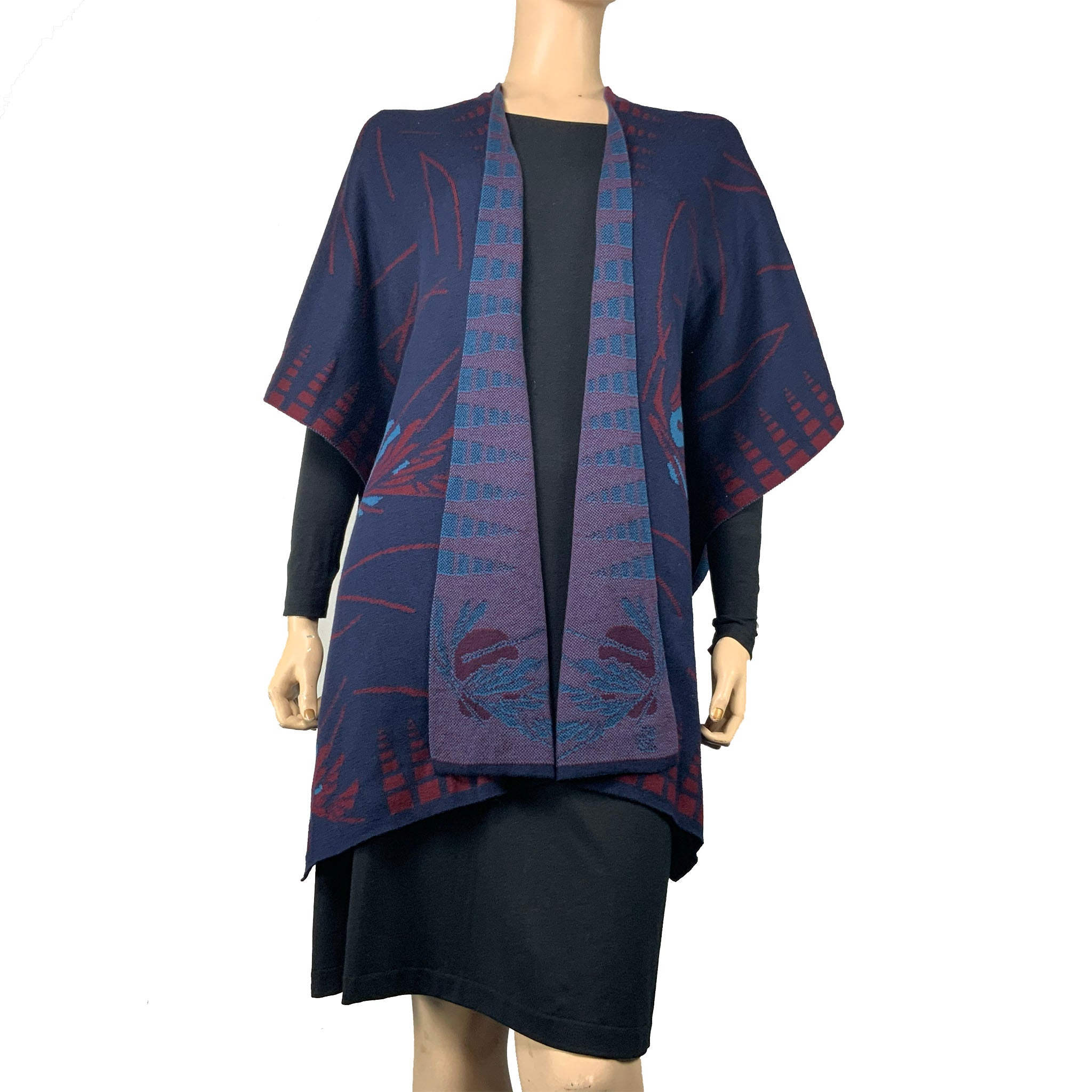 Blossom Cape  Navy, Wine, Blue