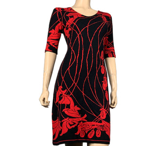 Water Lily Amanda Dress Black and Red