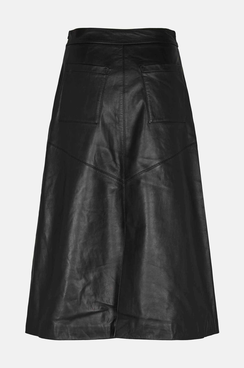 Tulia leather skirt