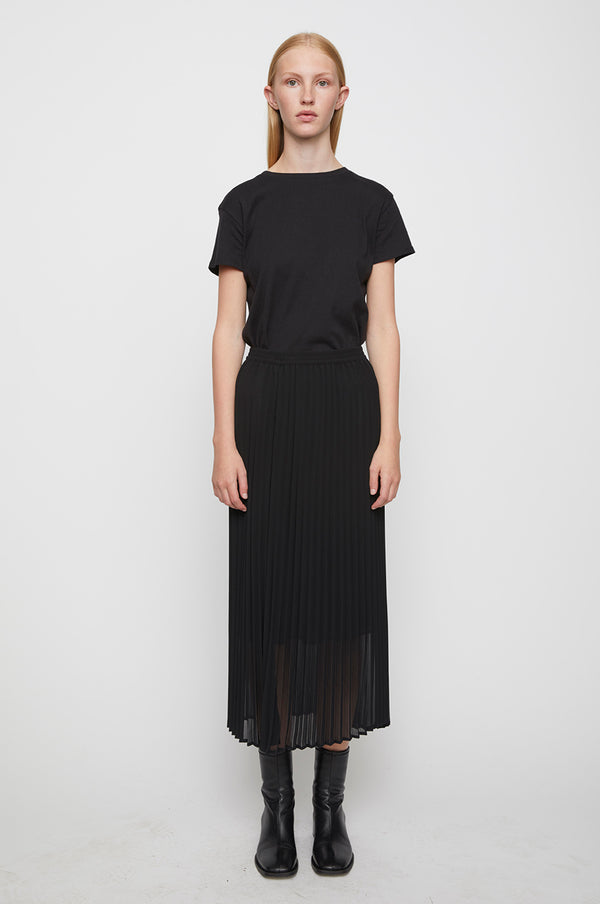 Roe pleated skirt