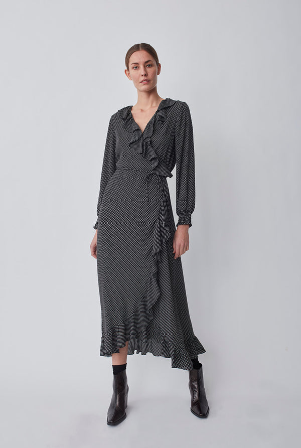 Niro maxi wrap dress