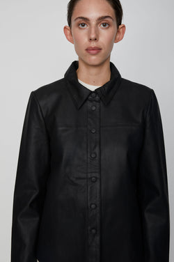 Joy leather shirt