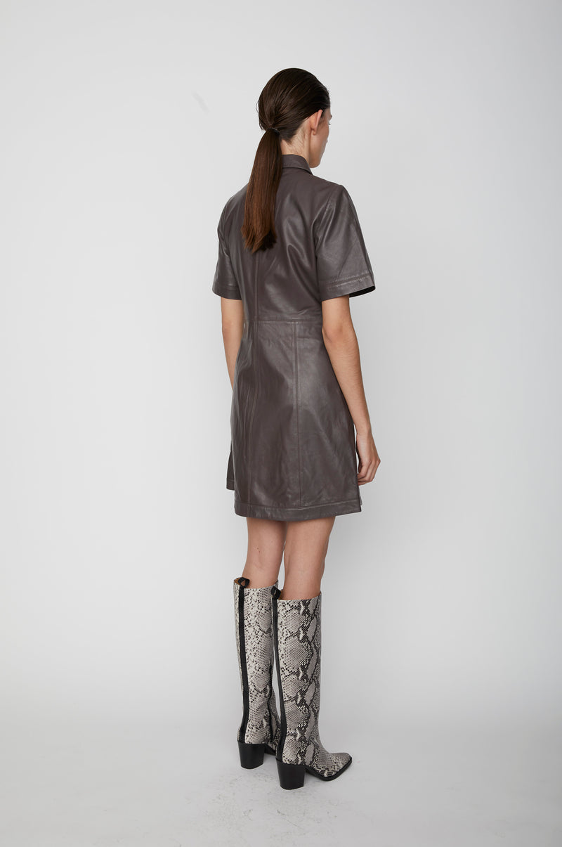 Fall leather dress