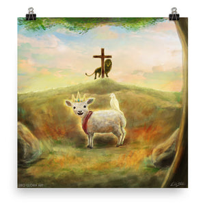"""Behold The Lamb"" Poster"
