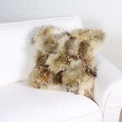 wolf fur cushion by Marie Dooley