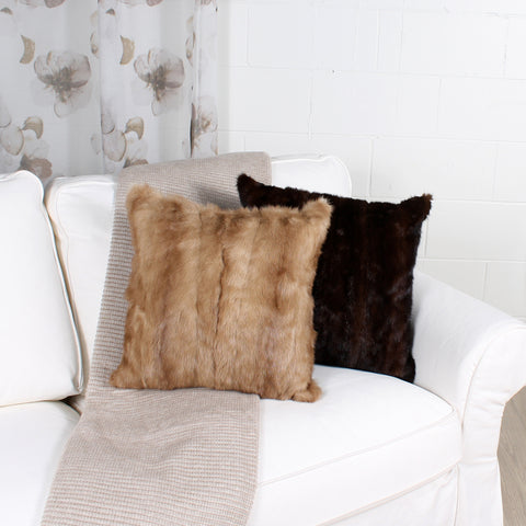 mink cushion by Marie Dooley
