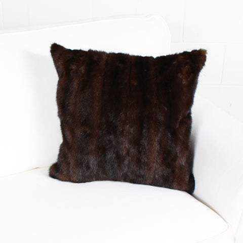 brown mink cushion by Marie Dooley