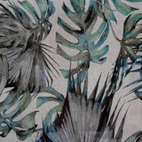blue palm print by Marie Dooley