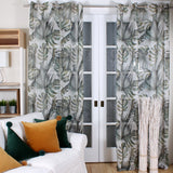 green palm curtain by Marie Dooley