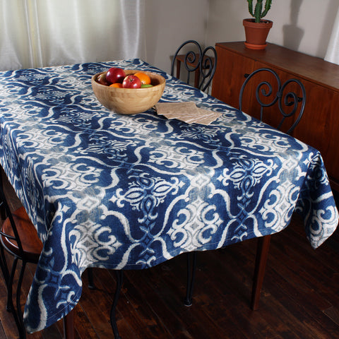 Giacomo navy tablecloth by Marie Dooley
