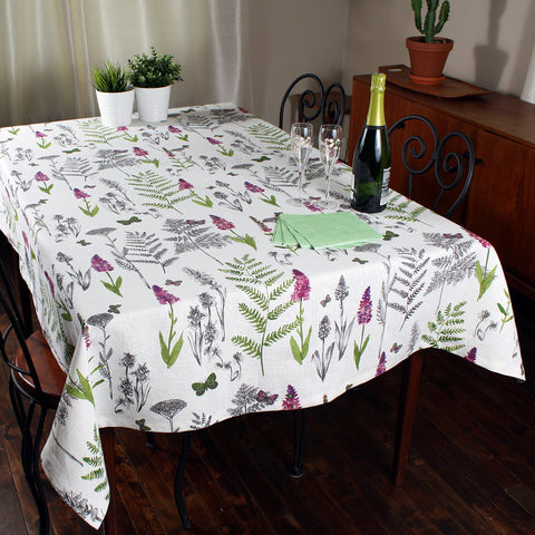 Oxalis tablecloth by Marie Dooley