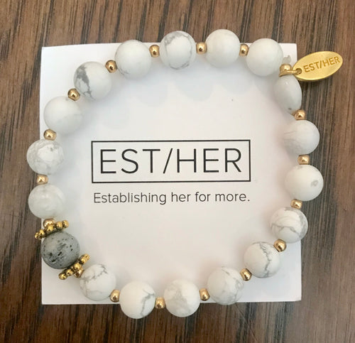 White Essential Oil Bracelet