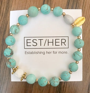 Aqua Essential Oil Bracelet