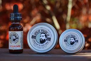 Kit: Beard balm, beard oil, and mustache wax