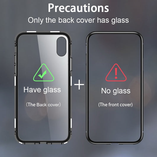 new concept a6e02 ef377 360 Magnetic Metal Case Samsung Galaxy S8 Plus S8+ Note 8 9, iphone X XR XS  MAX