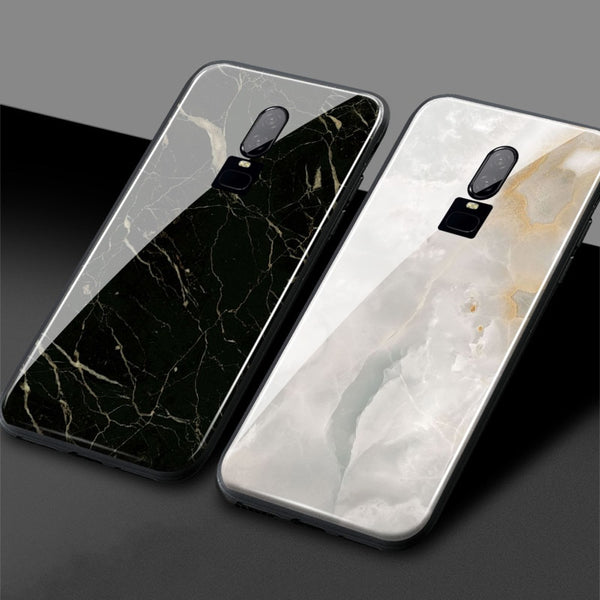 the best attitude a5d03 e55c6 One Plus 6T Marble phone cover 6 1+6T OnePlus 6 6T Tempered Glass ...