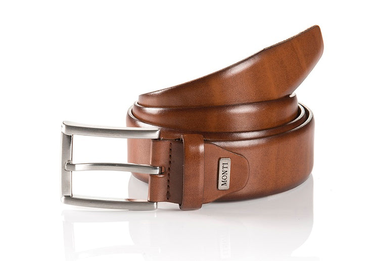 Monti Leather London Belt Cognac