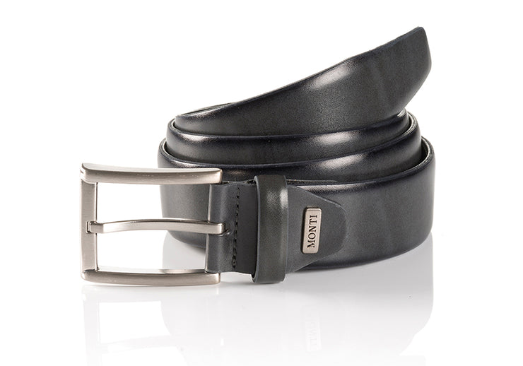 Monti Leather London Belt Grey
