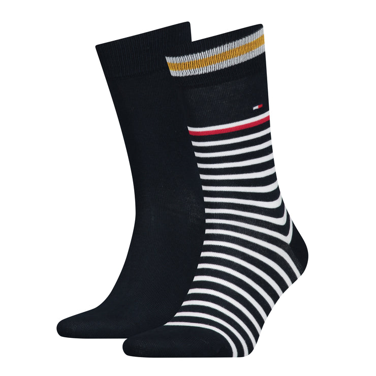Tommy Hilfiger 2-Pack College Stripe Socks Orange