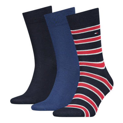 Tommy Hilfiger 3-Pack Mens Cotton Socks Blue Mix