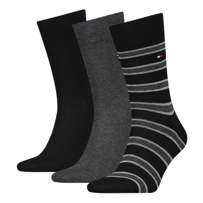 Tommy Hilfiger 3-Pack Cotton Socks Black Mix