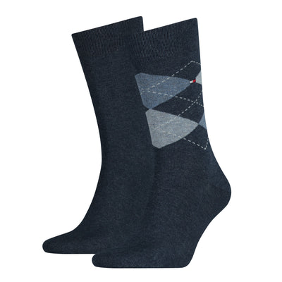 Tommy Hilfiger 2-Pack Diamond Check Socks Blue Jeans
