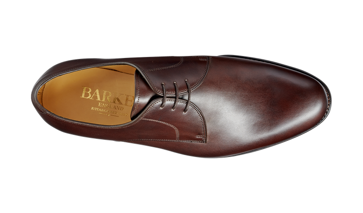 Barker March Dark Walnut Calf Derby Shoe