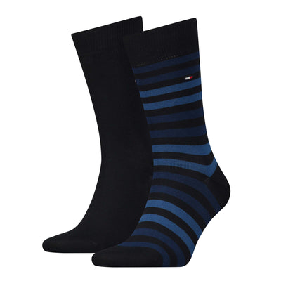 Tommy Hilfiger 2-Pack Duo Stripe Sock Dark Navy