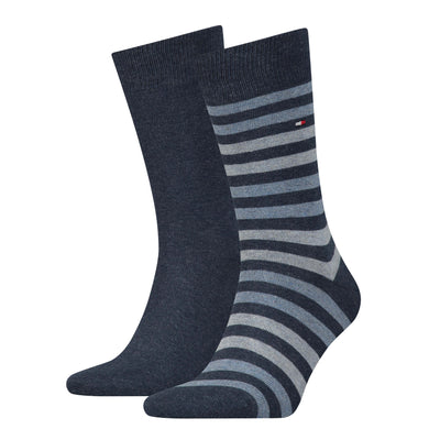Tommy Hilfiger 2-Pack Duo Stripe Socks Blue Jeans