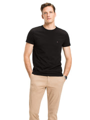 Tommy Hilfiger Stretch Slim Crew Neck T-Shirt Black