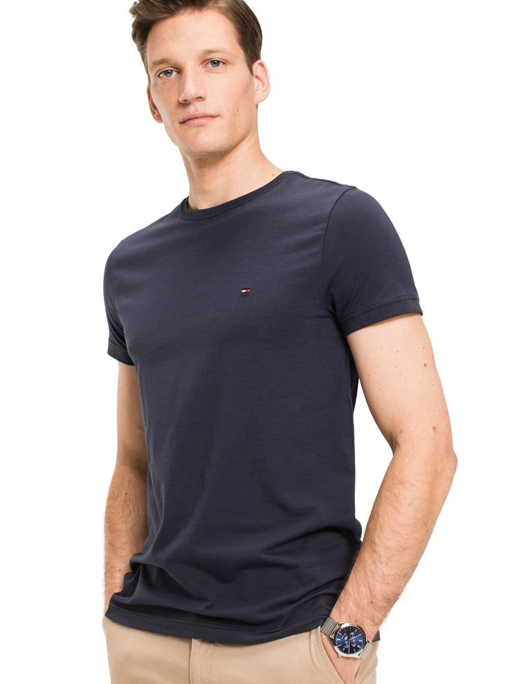 Tommy Hilfiger Stretch Slim Crew Neck T-Shirt Navy